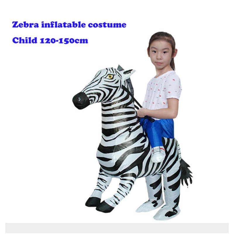 Gonflable fantaisie Cosplay robe fantaisie carnaval fête fête fournitures animaux Costumes tigre Cowboy accessoires spectacles de scène