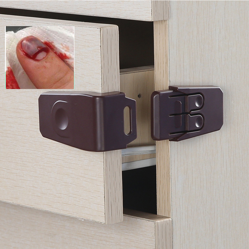 5pcs Baby Safety Protection Children Cabinets Boxes Lock Toilet Drawer Door Terminator Security Product Baby Safety Locks