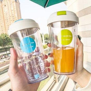 Botella De Agua del deporte De plástico Vasos De Plastico Con Tapa...