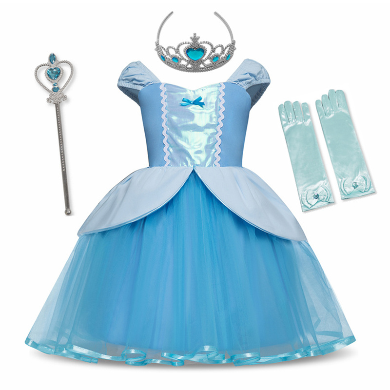 Princess Cinderella Rapunzel Dress Cosplay Costume For Baby Girl Toddler Sofia Snow White Girls Clothes 12M Birthday Party Dress
