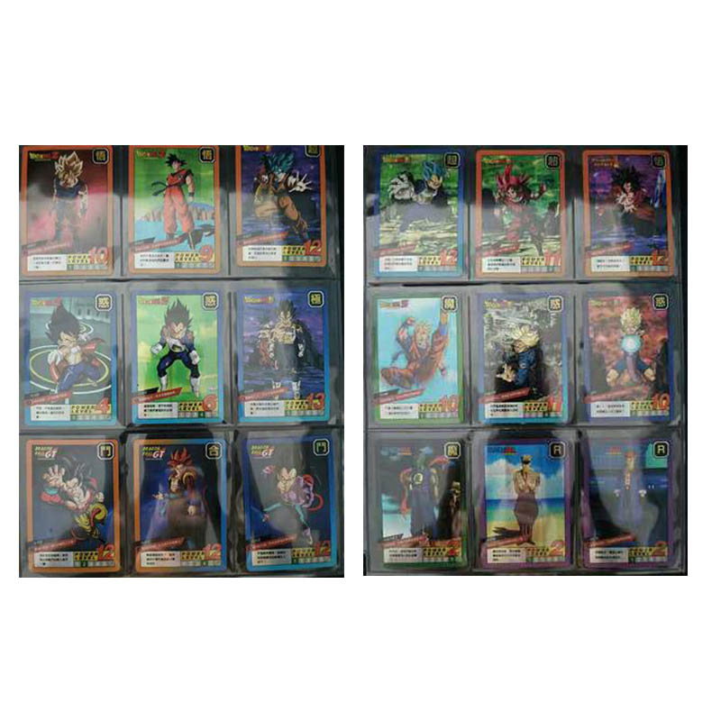 Dragon Ball 54pcs / Set Super Holographic Flash Card Z Hero Storm Cloud 11 Fight Card Instinct Goku Vegeta Game Collection Card