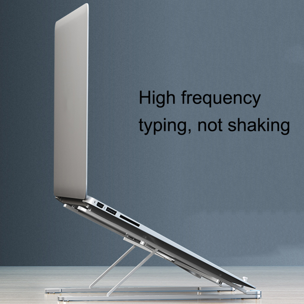 Folding Adjustable Angle Laptop <font><b>Stand</b></font> Holder for MacBook <font><b>Notebook</b></font> Aluminum Alloy <font><b>Cooling</b></font> Universal Non Slip Laptop <font><b>Stand</b></font> Rack image