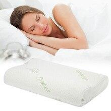 Almohada de espuma viscoelástica para proteger el cuello, almohadas ortopédicas para dormir, almohada Cervical ergonómica, cómoda protección para el cuello