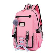 Fashion Women Large Capacity School Backpack USB Charging with Lock Anti Theft Daypack Laptop Rucksack Book Bag for Teenage Gir все цены