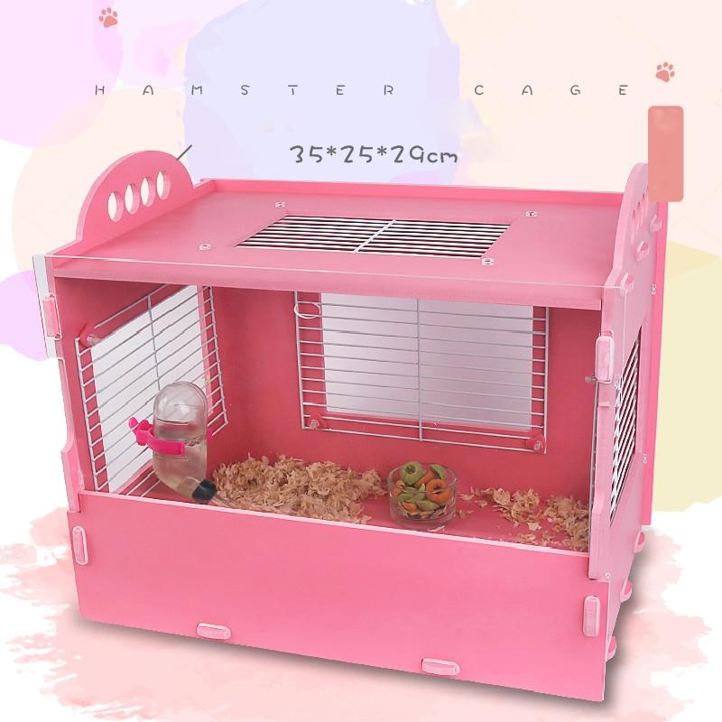 Large Size Hamster Villa Golden Bear Base Cage Fantasy Little Hamster Nest Princess Powder