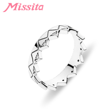 MISSITA 925 Sterling Silver Classic Exotic Crown Rings For Women Girls Gift Brand Jewelry Engagement Hot Sale anillos mujer