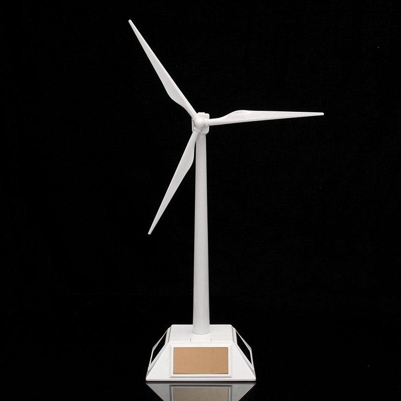 Plastic Model-Solar Powered Windmill Wind Turbine Desktop Decor Science Toy New