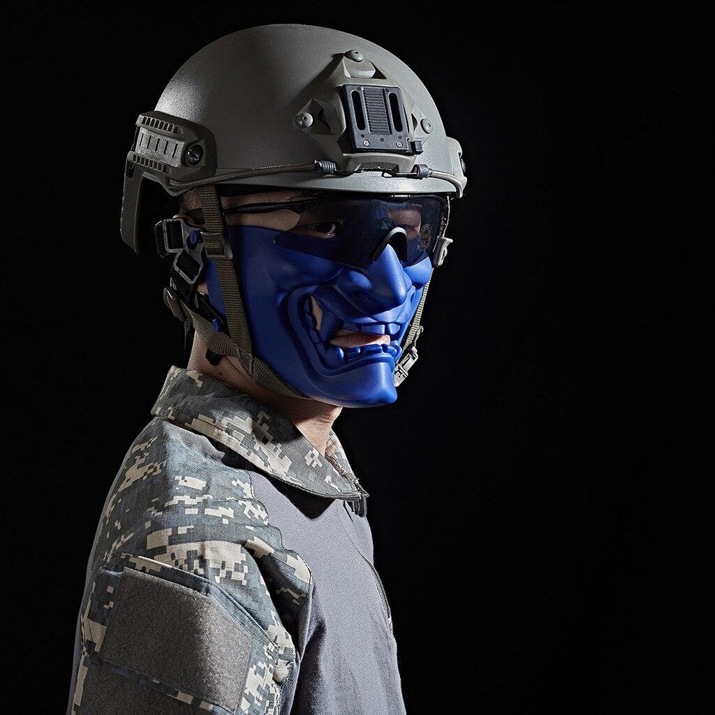 Хэллоуин защита для лица самурайская Маска игры маска для улицы для косплея# NN828