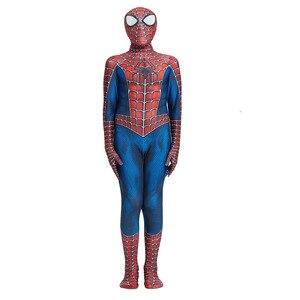 Image 2 - Costume Spider Boy pour enfants, Costume de Cosplay, super héros en Lycra pour garçon, Costume dhalloween Zentai avec masque