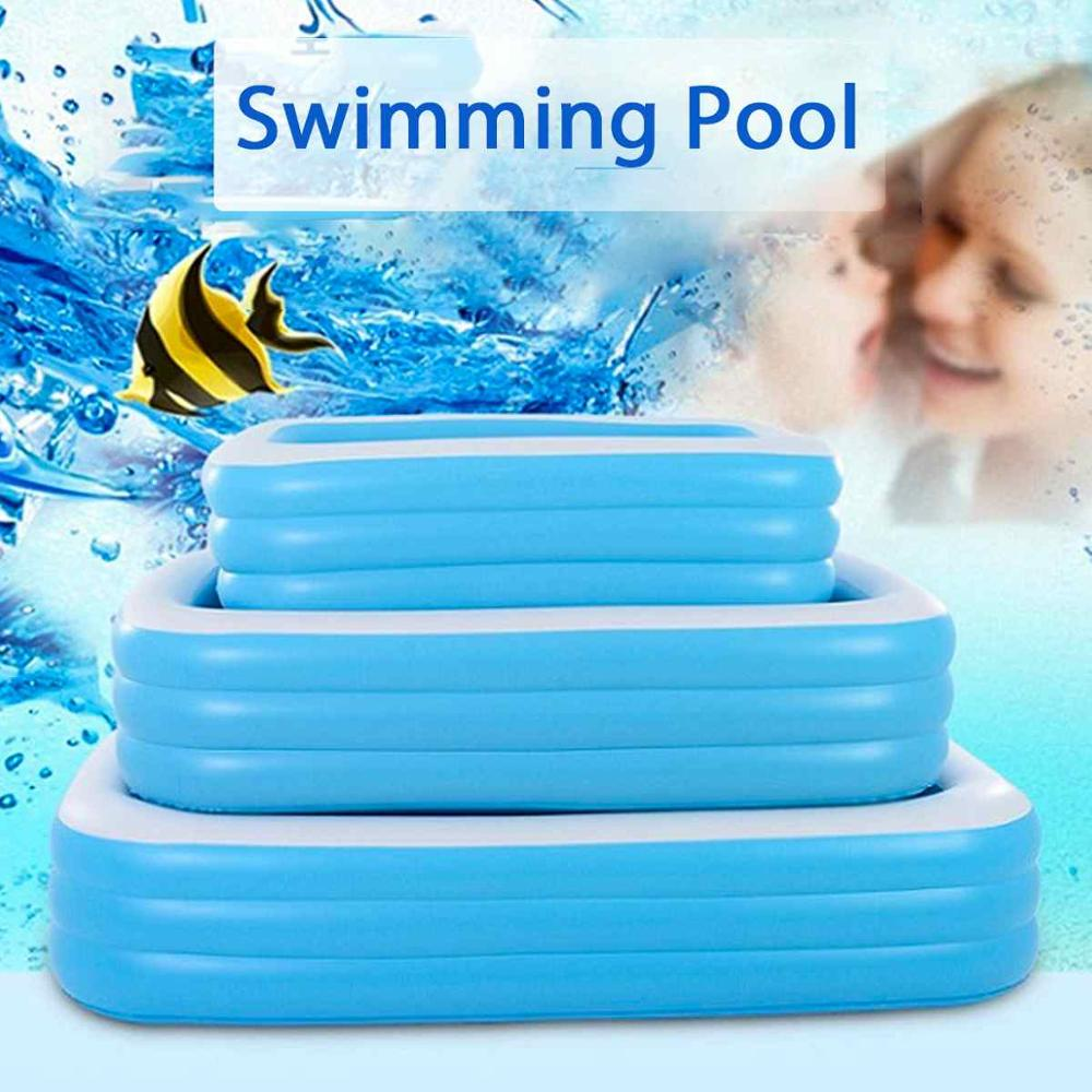High Quality 1.1m/1.3m/ 1.5m Inflatable Swimming Pool Adults Kids Pool Bathing Tub Outdoor Indoor Swimming Pool Products