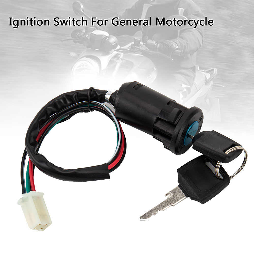 Sepeda Motor Pengapian Barel Kunci Switch 4 Kawat Universal Quad Pada/Off Pit Sepeda Motor