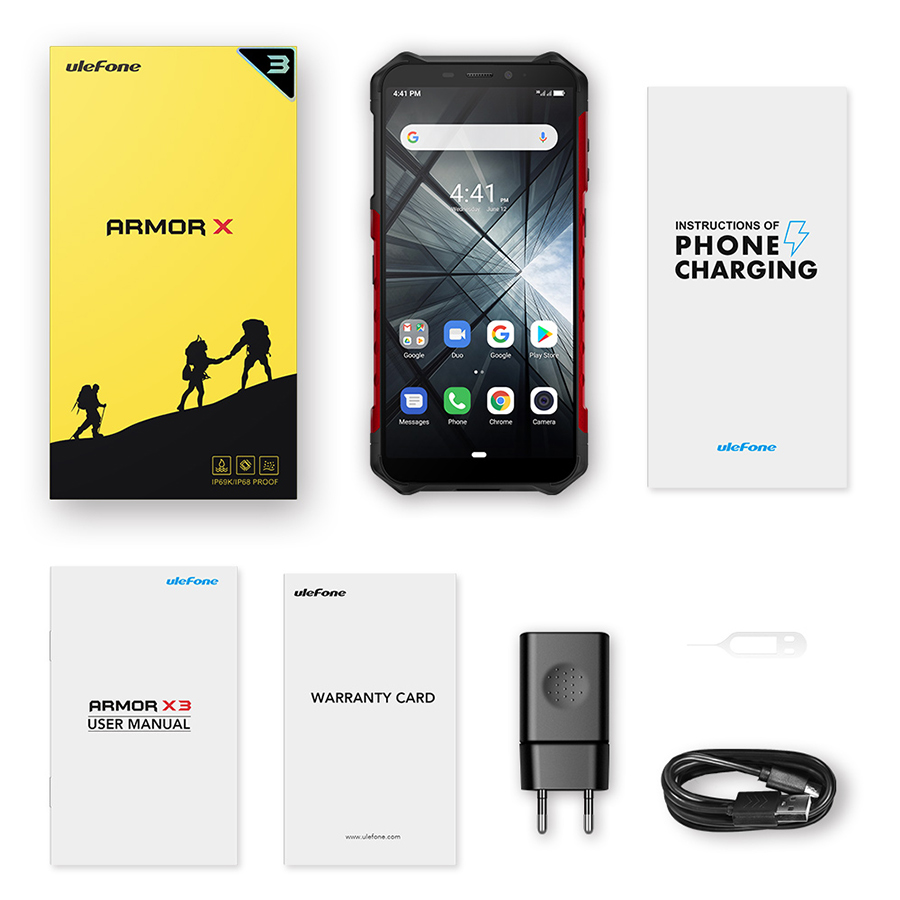 "Image 5 - Ulefone Armor X3 5.5""HD MT6580 Android 9.0 IP68 Rugged Smartphone 18:9 Quad Core 2GB 32GB 13MP 5000mAh 5V/1A Mobile Phone-in Cellphones from Cellphones & Telecommunications"