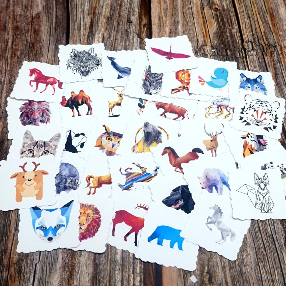 35pcs Galaxy Color Animal Stickers DIY Cups Skateboard Car Laptop Phone Guitar Stickers Kids Students Waterproof Gift Stickers