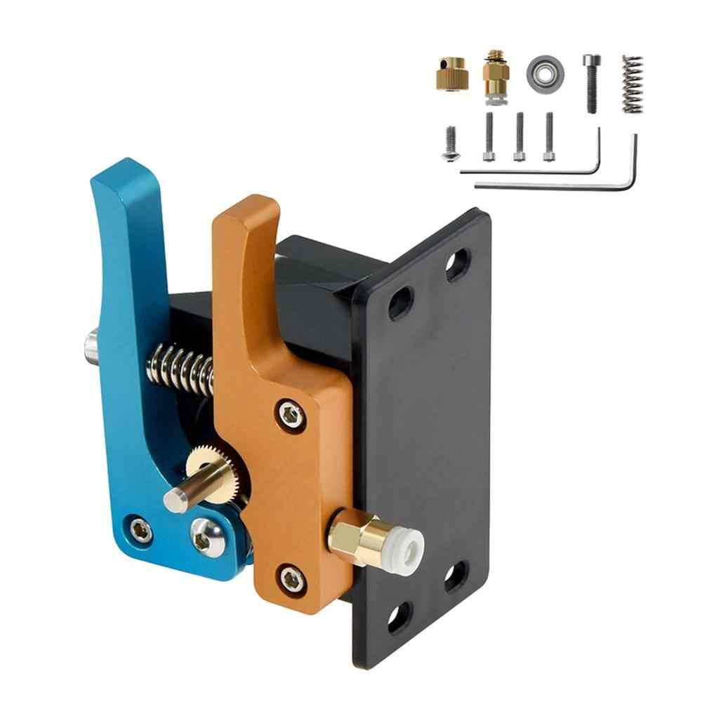 Goud Blauw Remote Direct Bowden Extruder 3D Printer Onderdelen Aluminium Blok Hotend Extruders 1.75mm Filament