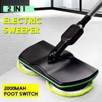 Recarregável 360 graus de rotação sem fio limpador de assoalho purificador polisher elétrica mop rotativo microfibra limpeza mop para casa|Esfregão|   -