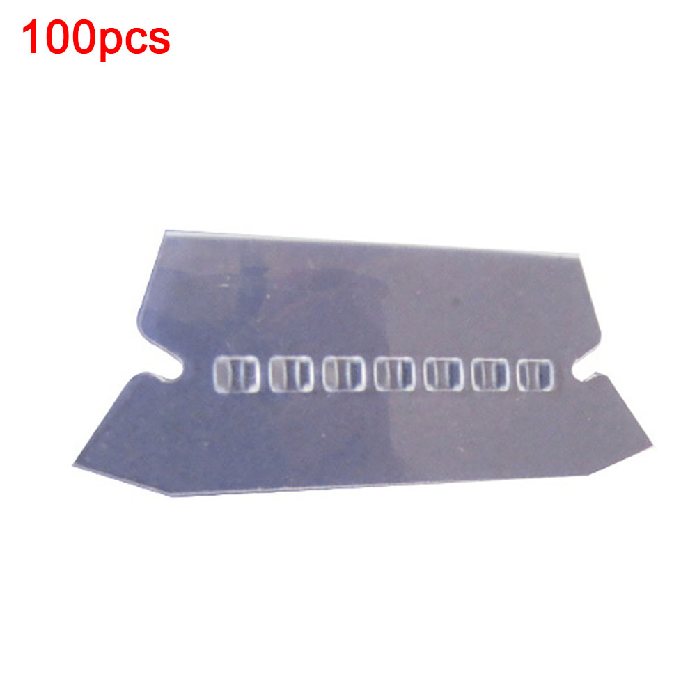 100pcs PVC Durable Crafts Transparent Label Convenient Professional Bendable Office Hanging Smooth Film File Index
