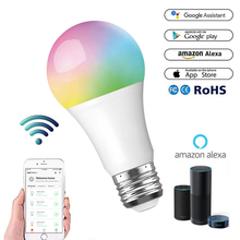 WiFi Smart LED Light Bulbs E27 10W/11W RGB+W Dimmable Lamp Lighting Wireless Voice Remote Control Work With Alexa Google IFTTT