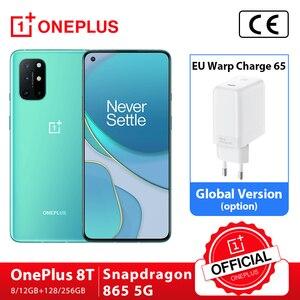 Глобальная прошивка OnePlus 8 T, 8 T, 8 Гб 128 Snapdragon 865 5G смартфон 120 Гц активно-матричные осид жидкости Экран 48MP Quad камеры 4500 мА/ч, 65 Вт Warp