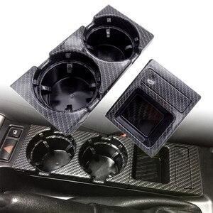 Image 2 - Para bmw e46 3 séries 1999 2006 preto, dupla buraco, veículo, frente, console, caixa de armazenamento moeda + suporte de copo da bebida 51168217957