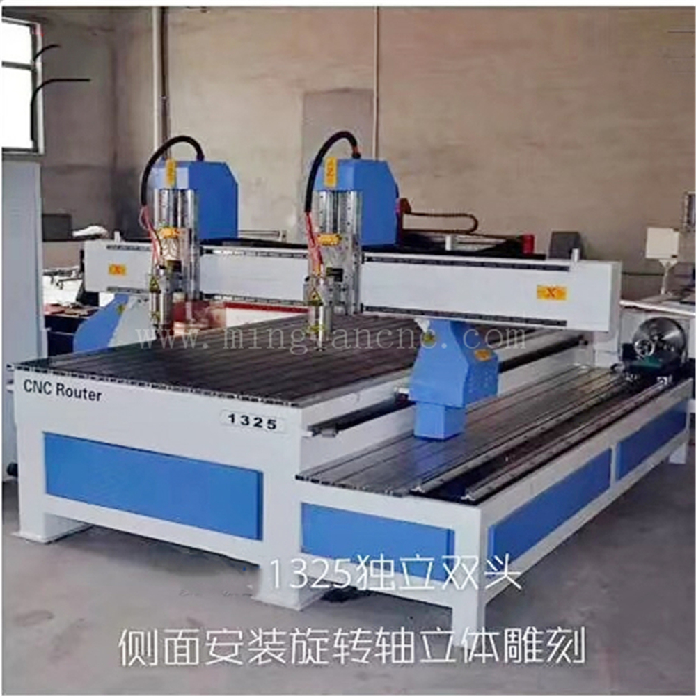 1325 Cnc Router With Side Rotary/ Two Spindle Machine