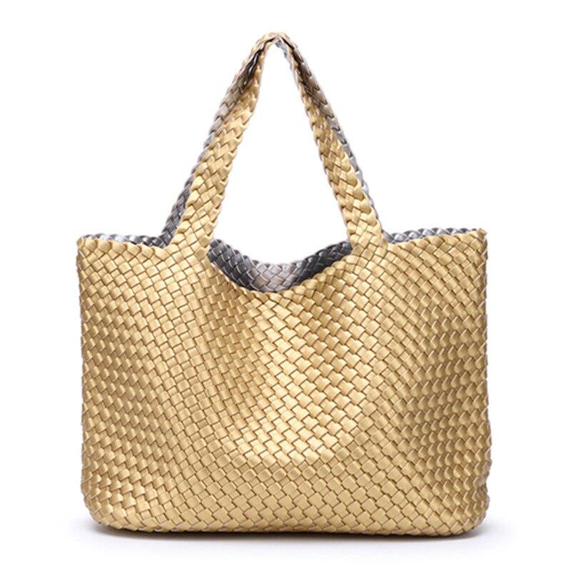 2018 High-Capacity Vegetable Basket Double Sheepskin Handbag Genuine Leather Woven Bag Woman High-Quality Tote Bags Louis Gg Bag