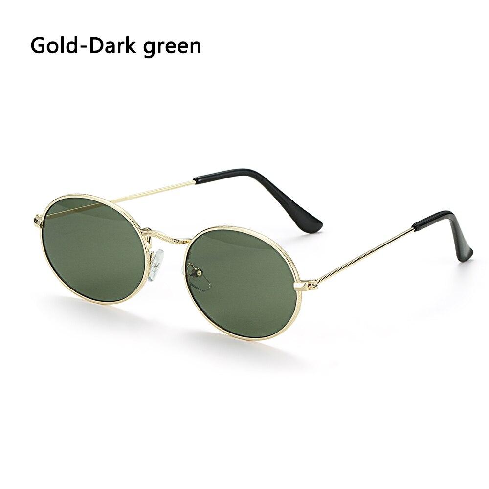 Fashion Vintage Shades Sun Glasses Elegant okulary Retro Small Oval Sunglasses for Men Women Eyeglasses gafas oculos 22