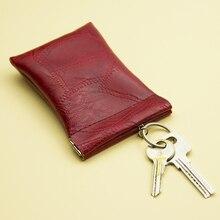 Mini Key Wallet Women Men Coin Housekeeper Keychain Purse PU Money Coin Organizer Bag Car Keys Cover Simple Key Holder Case