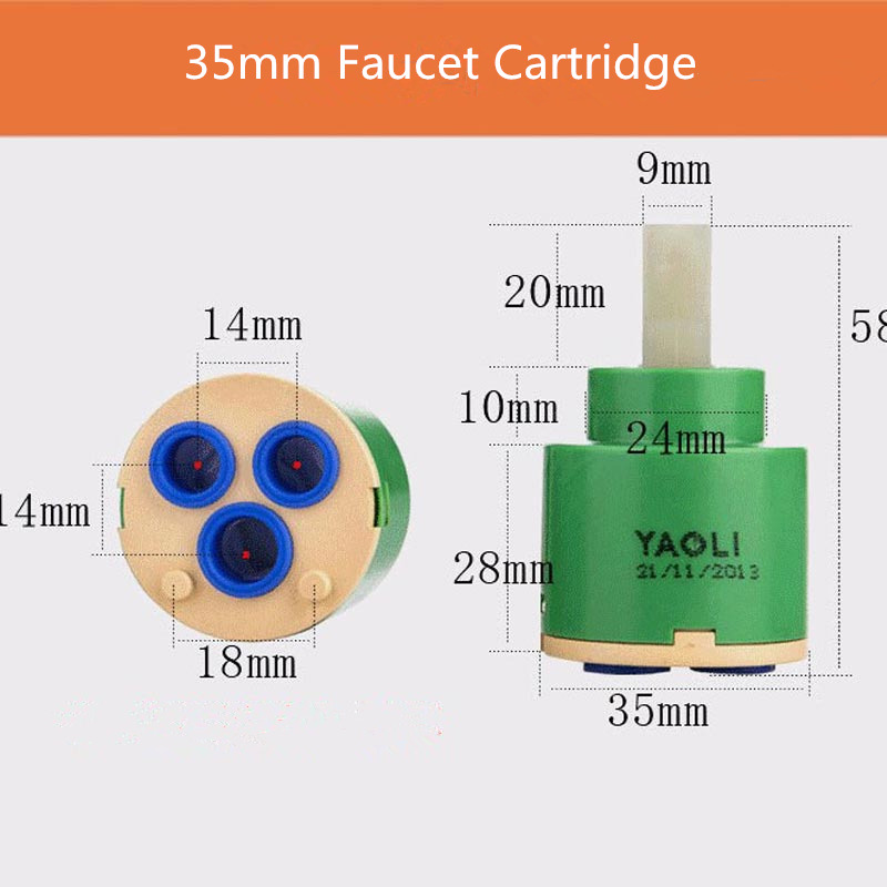 Faucet Cartridge  bathroom ceramic faucet cartridge 35mm or 40mm size valve for your faucet use at least 500000times