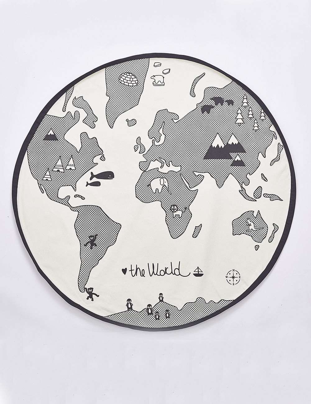 World Map Baby Play Mats Kids Crawling Carpet Floor Rug Baby Bedding Rabbit Blanket Cotton Game