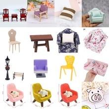 1 шт. или 1 комплект, милый комбинезон с мини уличный светильник кресло подушка для стула диван-кровать кукольная мебель игрушки Кукольный до...