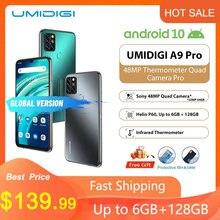 Umidigi a9 pro smartphone quad câmera 24mp selfiecamera umidigi 6gb 128gb helio p60 octa núcleo 6.3