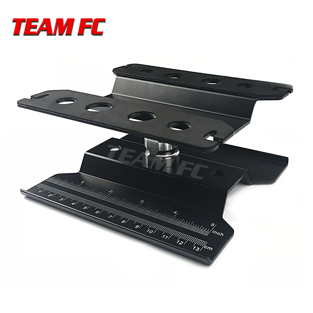 Short black work Stand Assembly Platform <font><b>360</b></font> Degree Rotate Repair Station for RC 1/8 1/10 TRX-4 Axial SCX10 Tamiya HSP S211 image