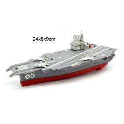 None Battery Powered Aircraft Carrier Toys with Sound and Light Floating Electric Ship Toy Gift for Kids
