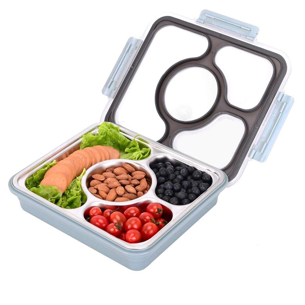 Japonais étanche boîtes à déjeuner compartiment 304 acier inoxydable Bento boîte Portable pique-nique école alimentaire conteneur boîte alimentaire contenir