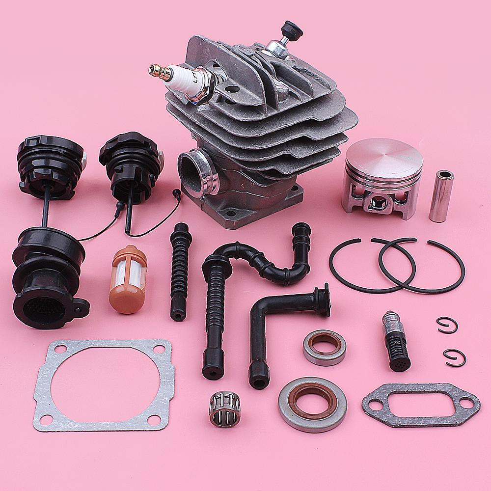 44mm Cylinder Piston Decompression Valve Kit For Stihl 026 MS260 Chainsaw 1121 020 1217 Oil Seal Fuel Cap Intake Pipe