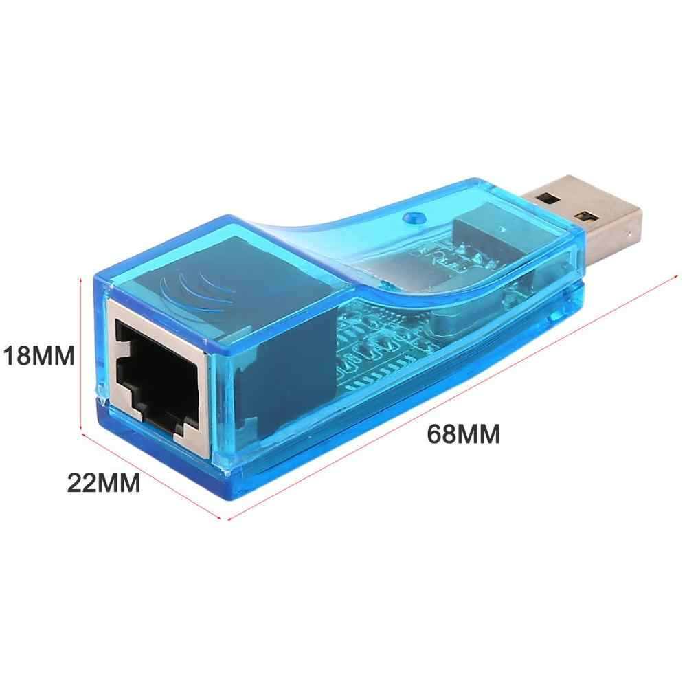 Azul usb 1.1 para lan rj45 ethernet 10/100 mbps adaptador de placa de rede para win7 win8 para android para tablet pc atacado