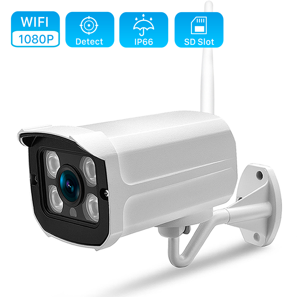 Ip-Wifi-Camera Yoosee Bullet CCTV 720P 2MP HD 1080P Wireless ONVIF With 128GB-SD-CARD-SLOT