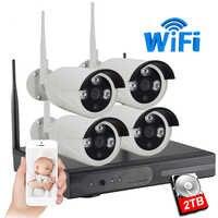 IMPORX 1MP 720P CCTV System 4ch Wireless NVR kit 2TB HDD Outdoor IR Night Vision IP Wifi Camera Security System Surveillance Set