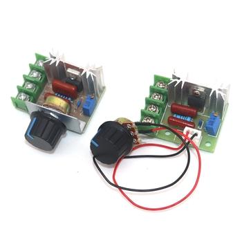 AC 220V 2000W SCR Regulator napięcia ściemniacze ściemniacze Regulator prędkości silnika moduł termostatu tanie i dobre opinie NoEnName_Null CN (pochodzenie) SCR AC220V 2000W Dimmers