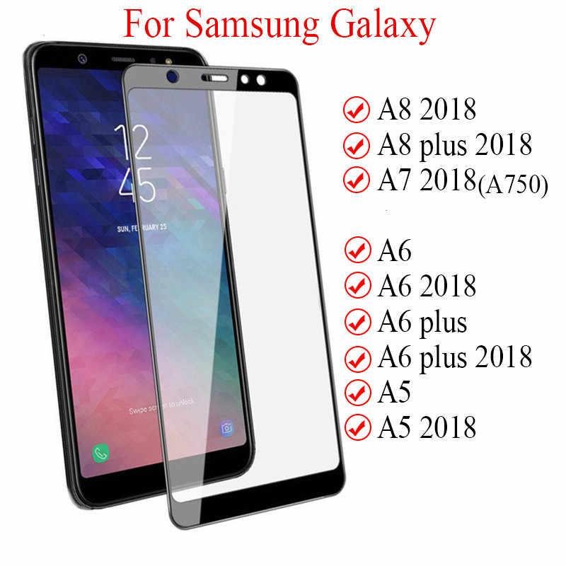 9d vidro protetor completo para samsung galaxy j4 j6 a6 a8 plus a5 a7 j7 j8 2018 vidro tremp a750 a730f samsun sumsung galaxy