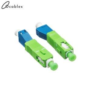 Image 3 - SC/APC LC/UPC Singlemode Optische Adapter SC Männlichen zu LC Weibliche Fiber Optic Adapter Freies Verschiffen