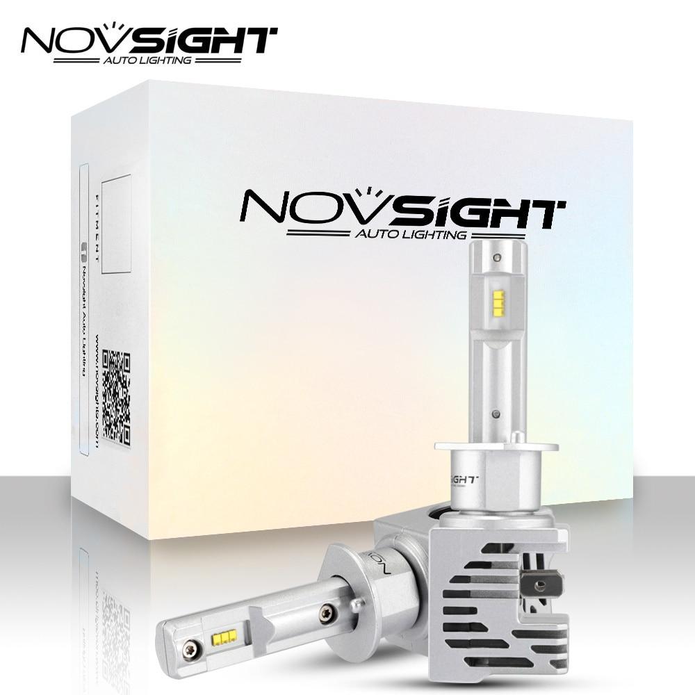 NOVSIGHT ZES чип H1 H3 H4 H11 H7 светодиодный лампы мини Автомобильные фары HB3 9005 HB4 9006 H11 Светодиодный ные Автомобильные фары Противотуманные фары мотоц...
