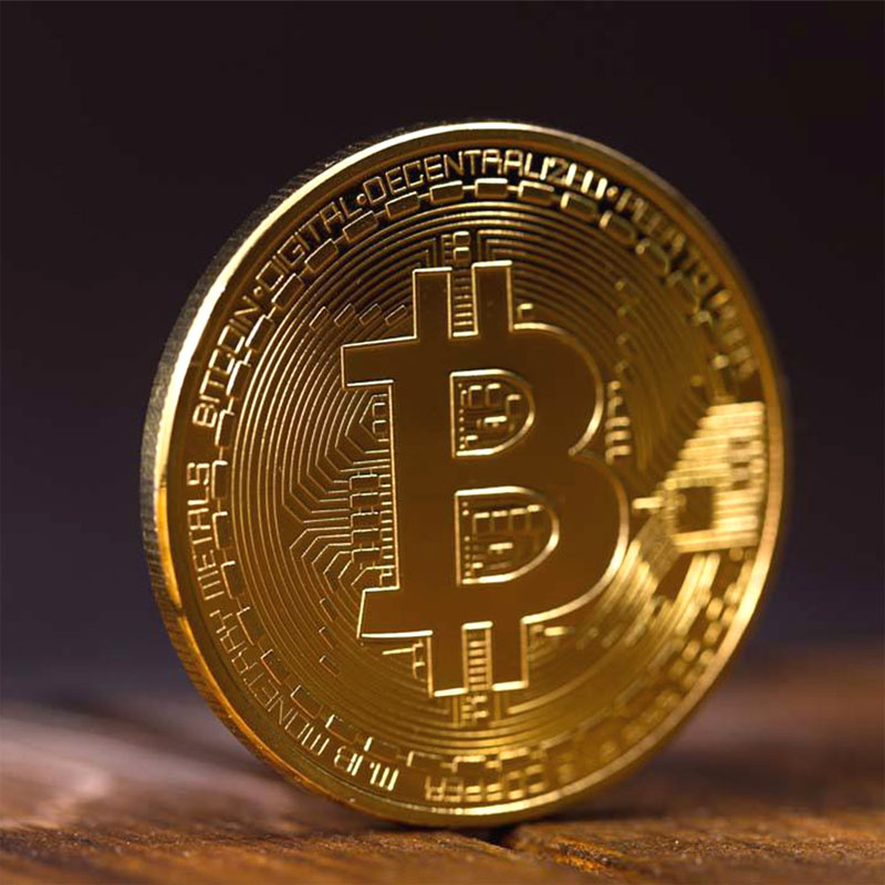 BITCoin Art Collection Gold Plated Physical Bitcoins Bitcoin BTC with Case Gift Physical Metal Antique Imitation Silver Coins-1