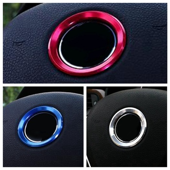 Car Interior Styling Steering Wheel Decoration Ring Circle Trim Sticker For BMW M3 M5 E36 E46 E60 E90 E92 X1 F48 X3 X5 X6 image
