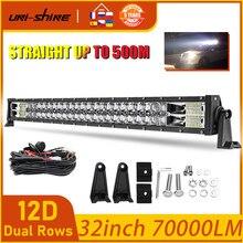 Projecteur de travail pour conduite combinée, UNI-SHINE 620W, lumière Led Bar, 12V 24V, 32
