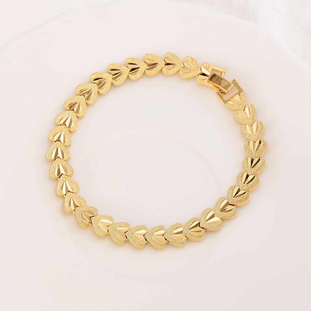 Настоящим 18К золото Цвет ювелирные браслеты для женщин и мужчин тонкой в едином положении во время занятий легкой атлетикой Feminina Свадебные ...