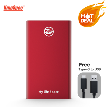 KingSpec External SSD 512GB RED Portable SSD 2TB Hard Drive 128GB 1TB SSD Type-C USB3.1 Solid State Disk hd USB3.0 for laptop OS sale kingspec 1 8 ssd ata7 zif 2 ce hd ssd 128gb 128 solid state drive ssd 120gb hard drive for sony for dell for hp