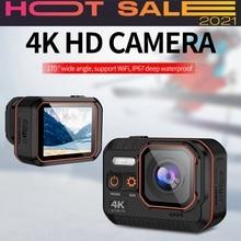 Cámara deportiva Ultra Hd 4k, Control remoto, pantalla de 2 pulgadas, 1080p, 120Fps, 60 Fps, casco impermeable, Go Sport Pro Hero 5