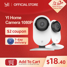 YI 1080p камера видеонаблюдения домашняя камера Крытая IP система видеонаблюдения с ночным видением для дома/офиса/ребенка/няни/видеоняня белая