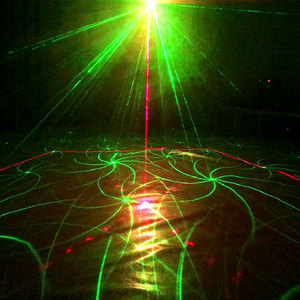 Image 4 - Proyector de luz láser activada por sonido con patrones de 120, luz LED de 9W para discoteca DJ, música, RGB, lámpara para Navidad, fiesta en casa KTV